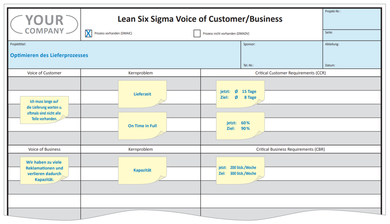 Voice of Customer Lean Six Sigma