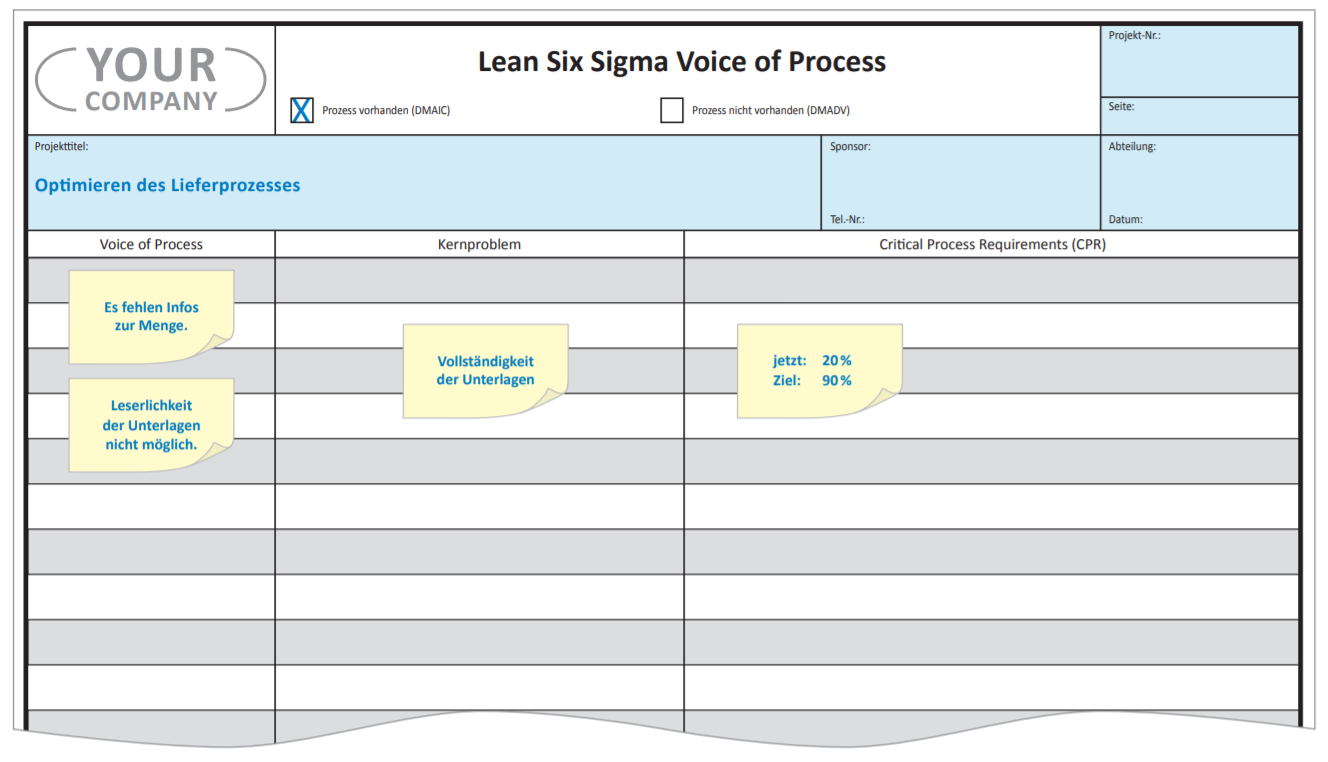 Voice of Process Lean Six Sigma